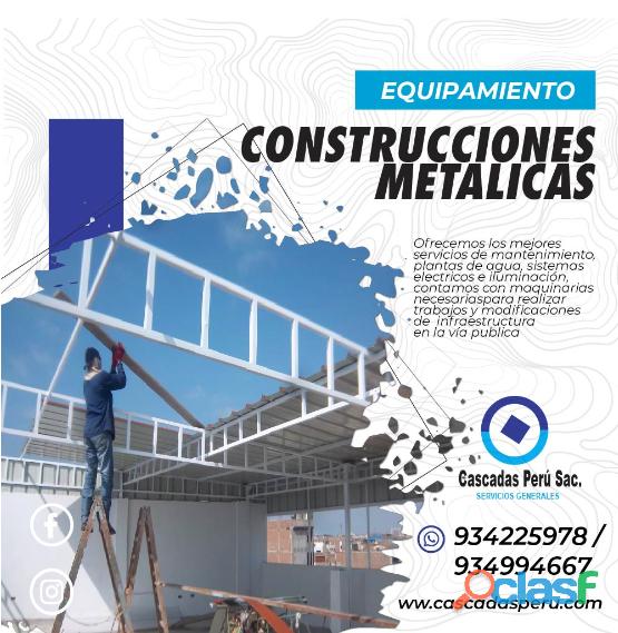 ESTRUCTURAS METALICAS   CONSTRUCCION DE DRYWALL – ASFALTADO – CERCO PERIMETRICO 4