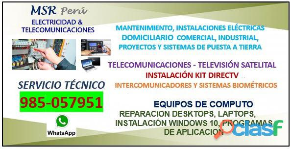 Técnico Electricista Servicio 985057951