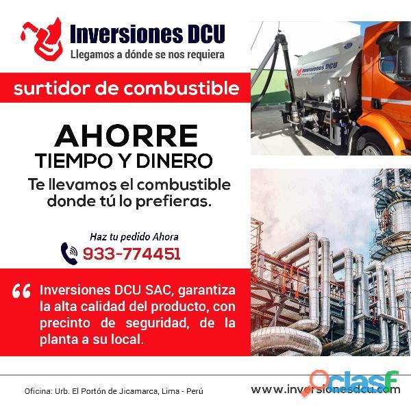 INVERSIONES DCU   Distribución de Combustible