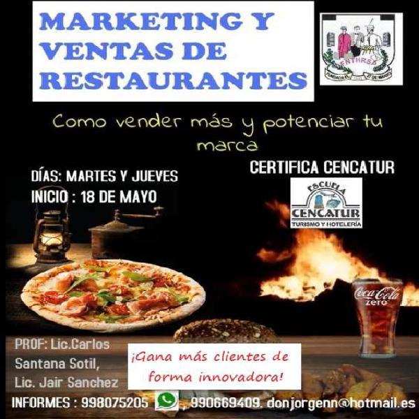 Marketing y ventas para restaurantes en Lima