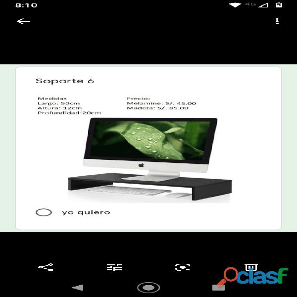 Soporte de monitor de PC 11