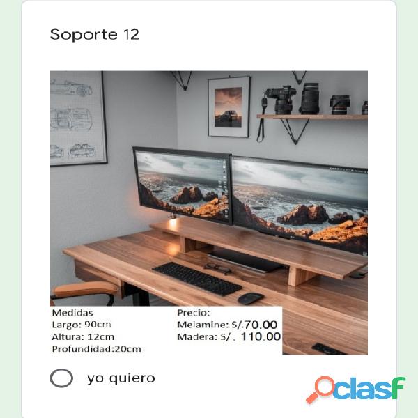 Soporte de monitor de PC 8