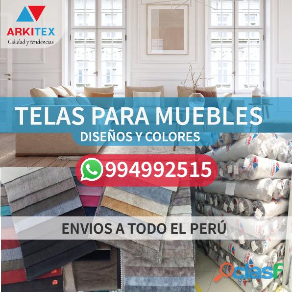 Telas para muebles de variedad de diseños y colores