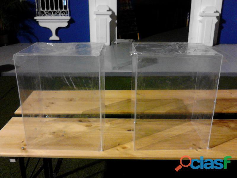 Tubos Cilindros Cajas Box Tapas Urnas Acrilicos Acrilicas Acrilica