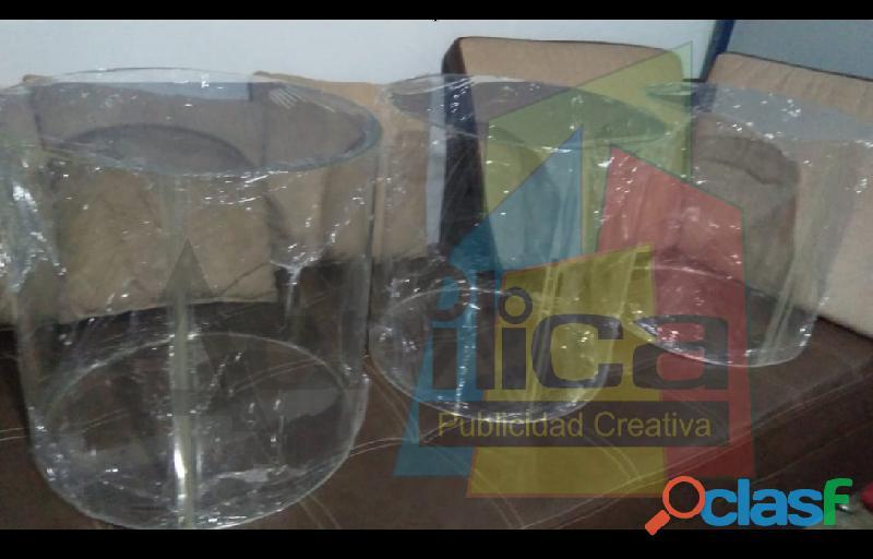 Tubos Cilindros Cajas Box Tapas Urnas Acrilicos Acrilicas Acrilica 8