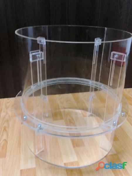 Tubos Cilindros Cajas Box Tapas Urnas Acrilicos Acrilicas Acrilica 11