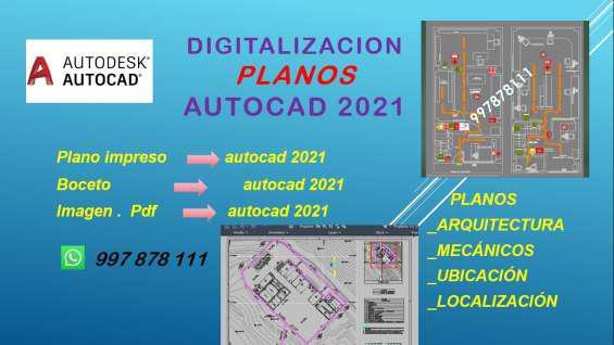 Digitalizacion de planos en autocad. desde pdf- imagenes-