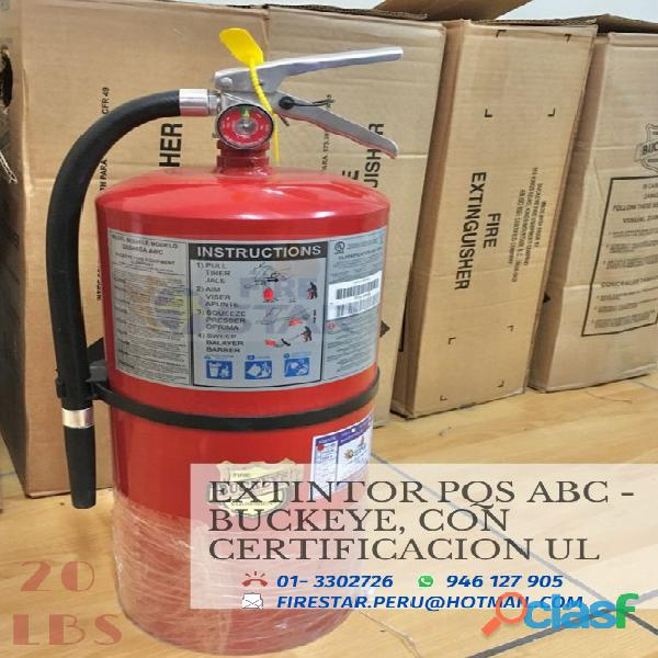 Extintores con certificacion ul segun osinergmin