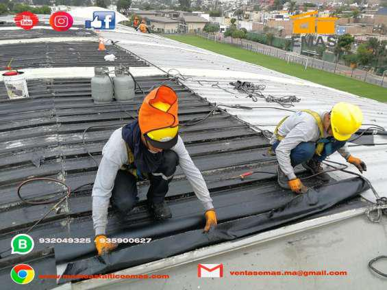 Impermeabilizacion de techos y jardineras en Lima