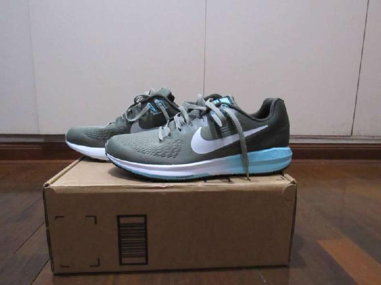 Nuevas Zapatillas Nike Zoom Gris con Celeste