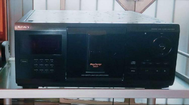 Sony cdp-cx225 megastorage 200 x cd carousel, con control