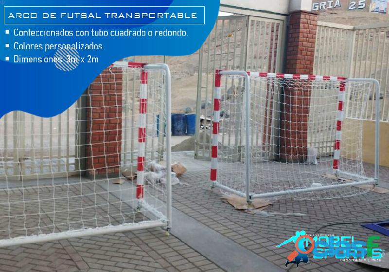 Arcos de futsal con malla   mobel sport's