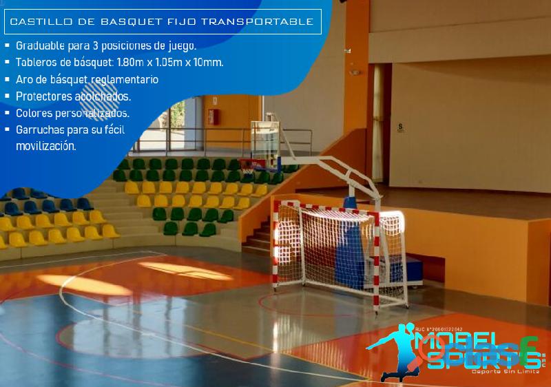 Tablero de basketball transportable   mobel sport's