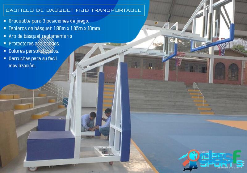 Tablero De Basketball Transportable   Mobel Sport's 4