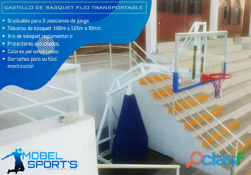 Tablero De Basketball Transportable   Mobel Sport's 2