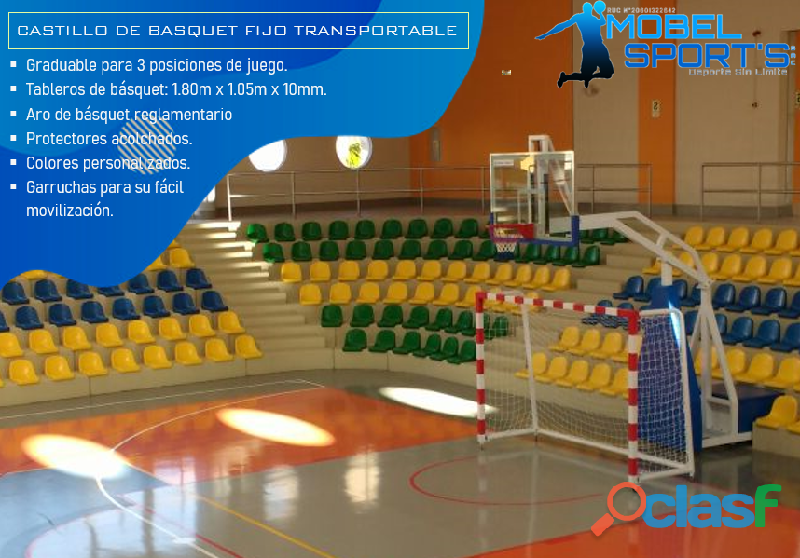 Tablero De Basketball Transportable   Mobel Sport's 1