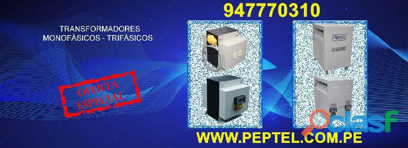Fabricación y venta de Transformadores 220V / 110V