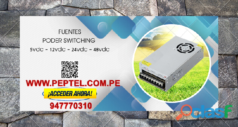 Fuentes de poder switching de 5v   12v   24v   48v y otras tensiones de salida. 1