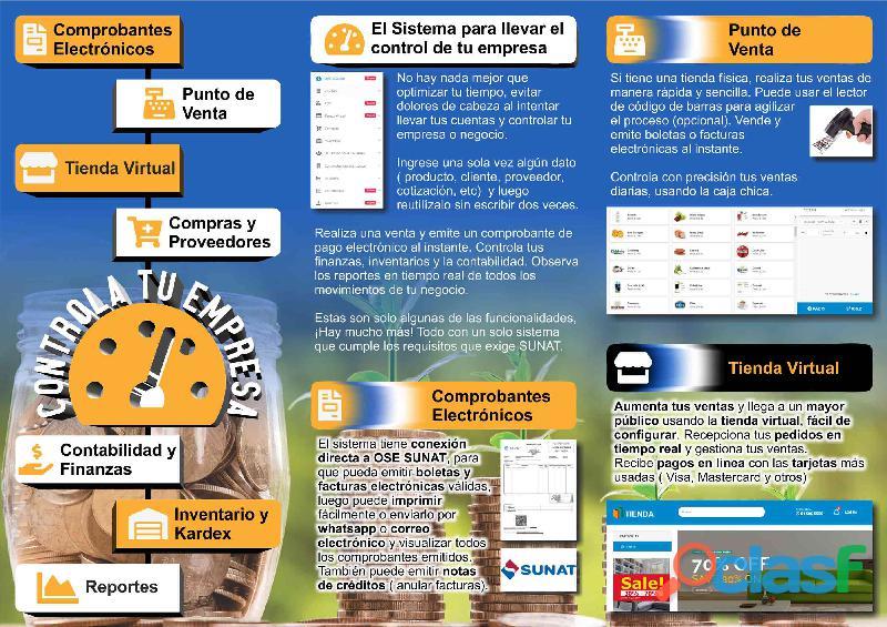 Sistema facturador electrónico pos e inventario