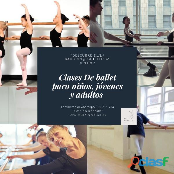 Clases de ballet para niños, jóvenes y adultos