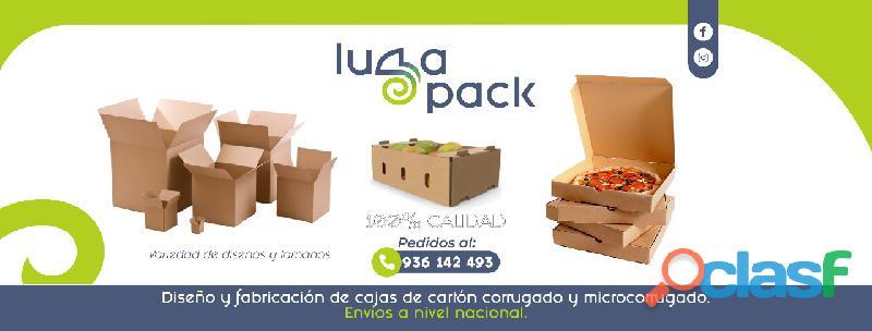 Cajas de cartón en simple y doble corrugado, microcorrugado y accesorios