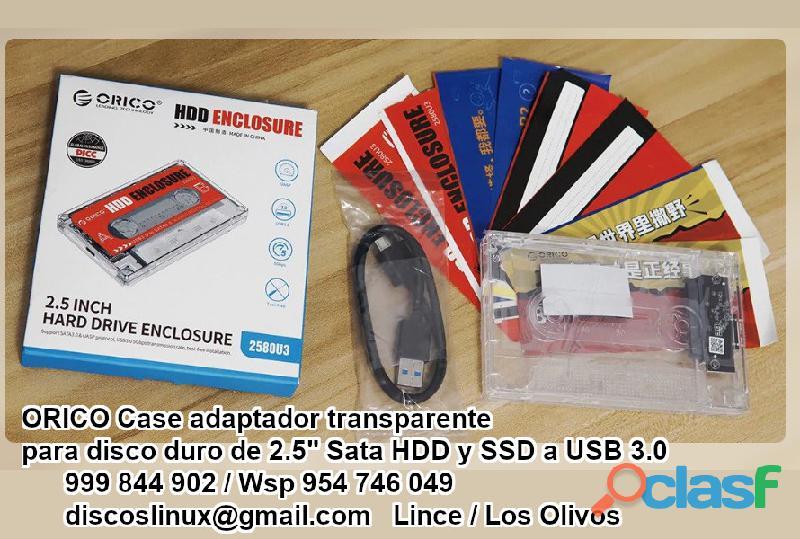 Orico Adaptador transparente disco duro 2.5 laptop Hdd Ssd a Usb 3.0 4
