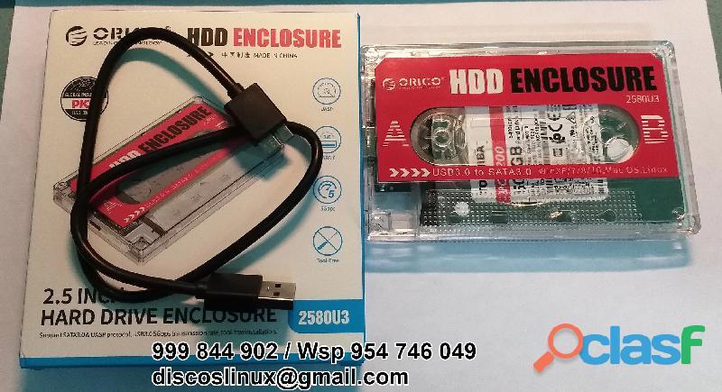 Orico Adaptador transparente disco duro 2.5 laptop Hdd Ssd a Usb 3.0 3