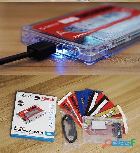 Orico Adaptador transparente disco duro 2.5 laptop Hdd Ssd a Usb 3.0 1