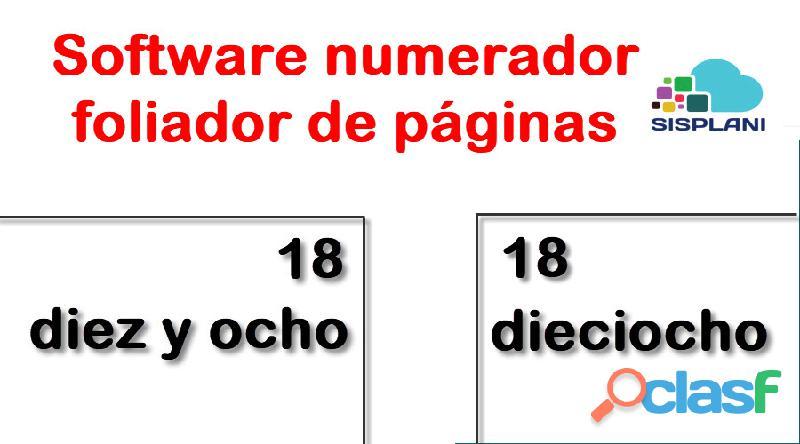 Software numerador foliador de páginas   demo gratis