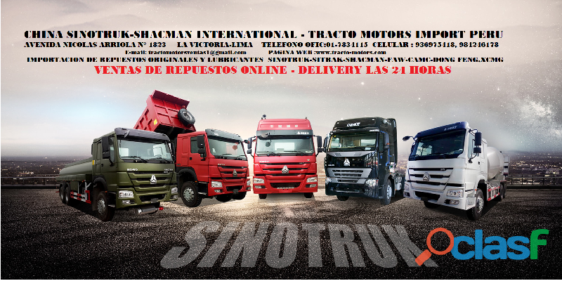 CHINA SINOTRUK SHACMAN FAW INTERNATIONAL TRACTO MOTORS SAC