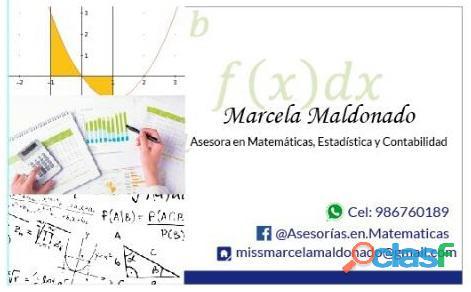 ¿buscas asesoría en estadística, matemáticas y/o contabilidad?