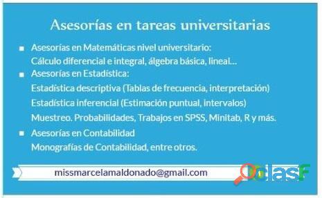 ¿Buscas asesoría en Estadística, Matemáticas y/o Contabilidad? 1