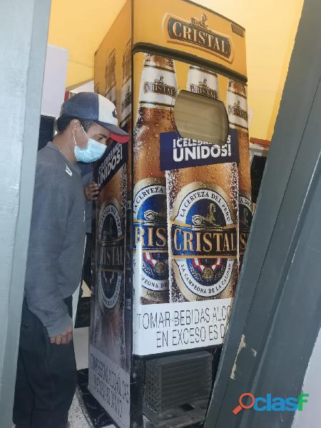 Conservadora industrial de bebidas para local comercial