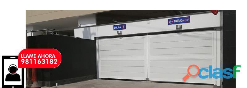 Puerta de garaje automática lima perú