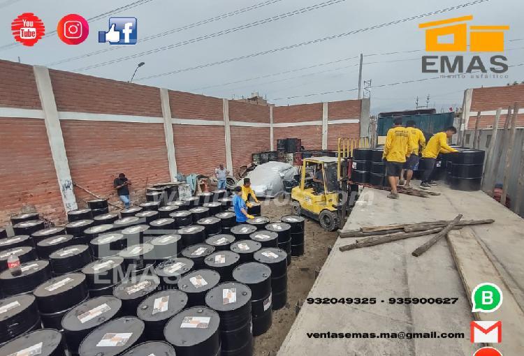 Cilindros de emulsion asfaltica