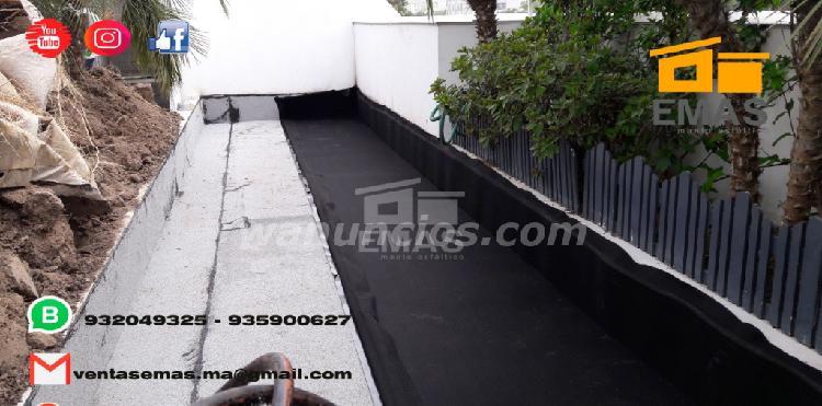Impermeabilizacion con manto asfaltico