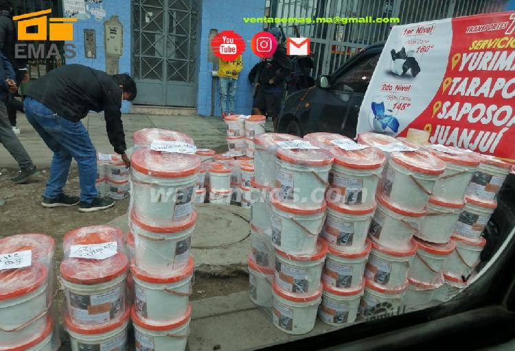 Venta de asfalto en galones y baldes