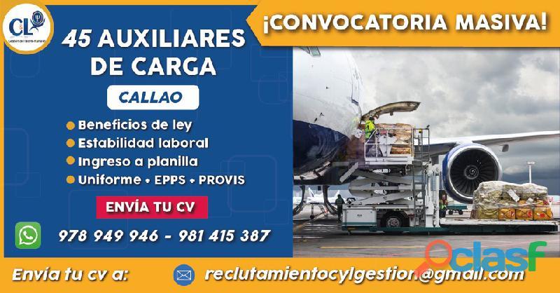 Auxiliar de Carga   Callao   Planilla + Turnos Rotativos