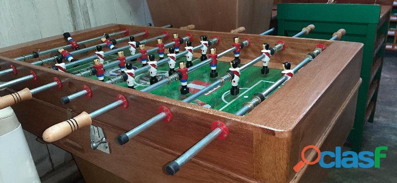 Mesas de fulbito,familiar y comercial, fabricados en madera tornillo medidas oficiales variedad de e