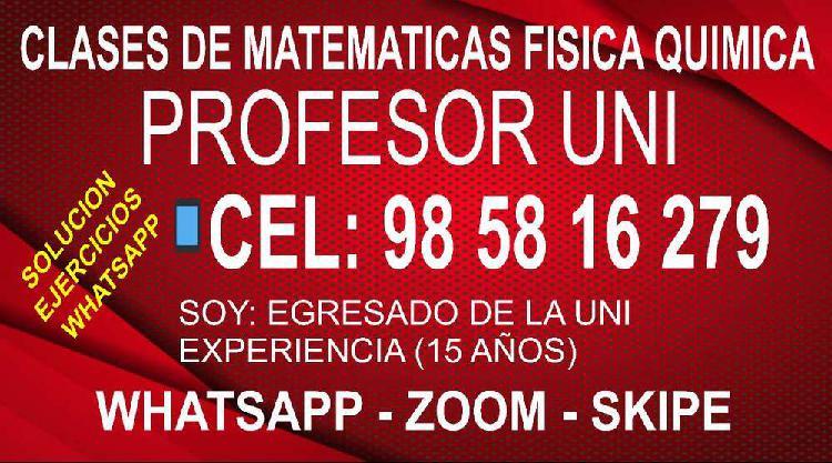 Clases de matematicas Fisica Quimica - Todo nivel (Escolares