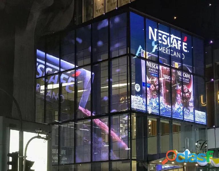 Pantallas LED de transparente para fachadas de vidrio y escaparates de tiendas 7