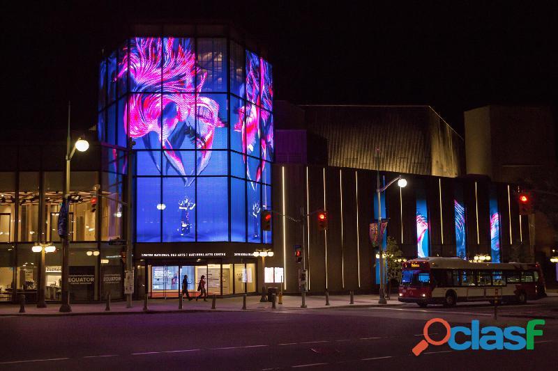 Pantallas LED de transparente para fachadas de vidrio y escaparates de tiendas 6