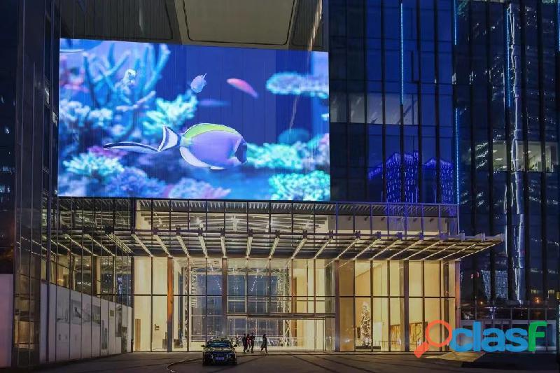 Pantallas LED de transparente para fachadas de vidrio y escaparates de tiendas 1