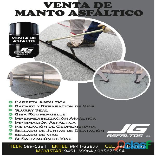 VENTA DE MANTO ASFALTICO