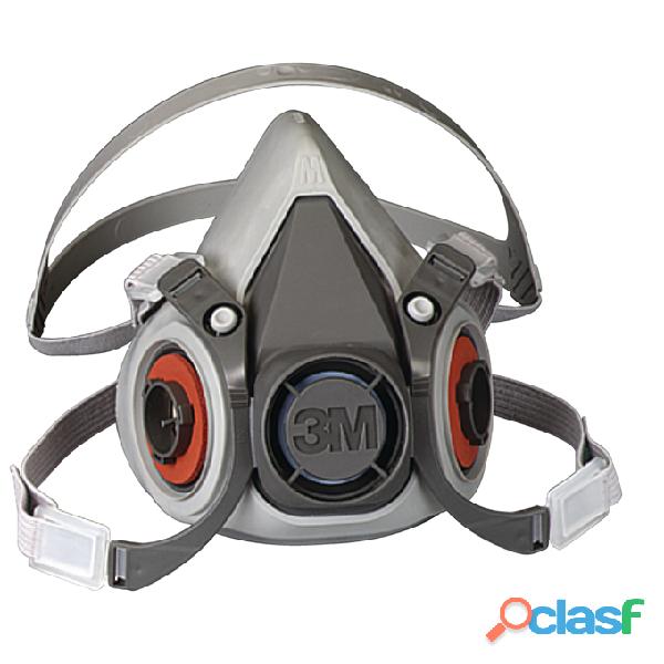 Respirador de media cara   elastomerico modelo 6200 3m