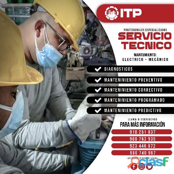 Servicio tecnico de bombas y equipos industriales