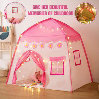 Casa casita carpa para niñas castillo princesa plegable con