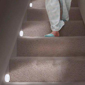 Luz led c/ sensor de movimiento infrarrojo emergencia