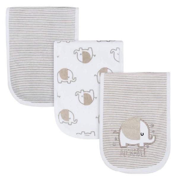 Gerber pack 3 baberos unisex 100% algodón para bebés