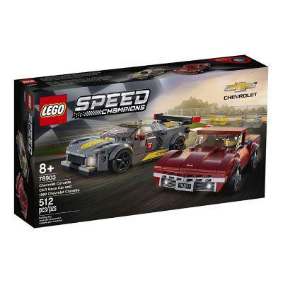 Lego chevrolet corvette c8 r & 1968 c3